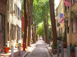 Philadelphia: Quince Street im Old City Historic District