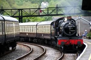 Dampfzug der Dartmouth Railway